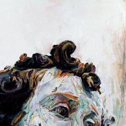 "Bonce, 2008, oil on panel, 48""x48"""