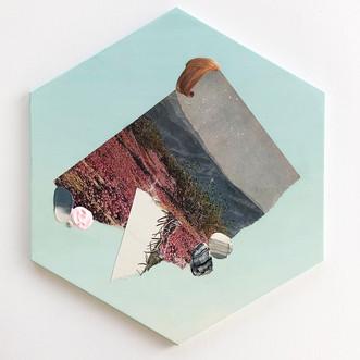 "Danielle Krysa Fragment of a Desert Dream No. 3 11.5"" x 13.5""  mixed media on panel $425.00"