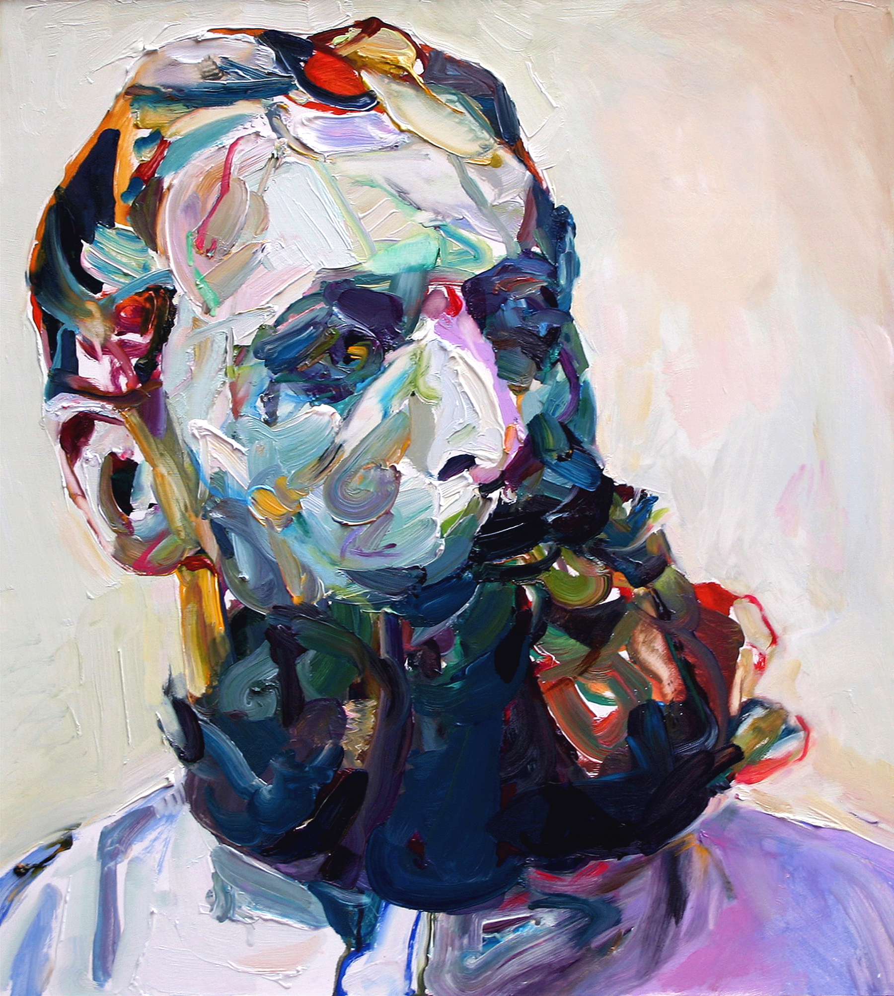 "Bearded, 2009, oil on panel, 24""x 22"""