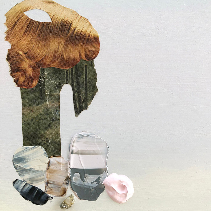 "Danielle Krysa Fragment of a Desert Dream No. 7 10"" x 11.5""  mixed media on panel $300.00"