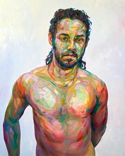 "Possesh, 2021, oil on canvas, 60""x48"""