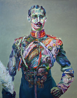 "Zhooshy, 2011, oil on panel, 60""x48"""
