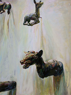 """Gawpers, 2008, oil on panel, 48""""x36"""""""