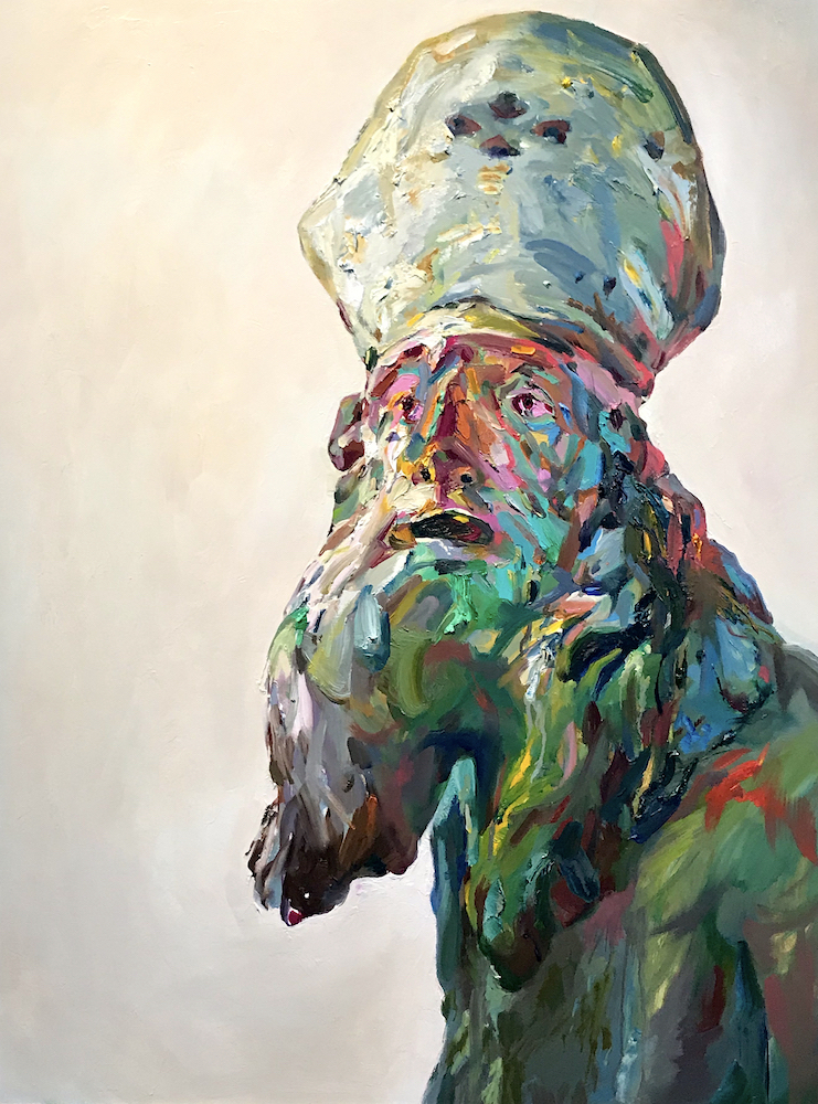 "Juggins, 2019, oil on canvas,40""x30"""