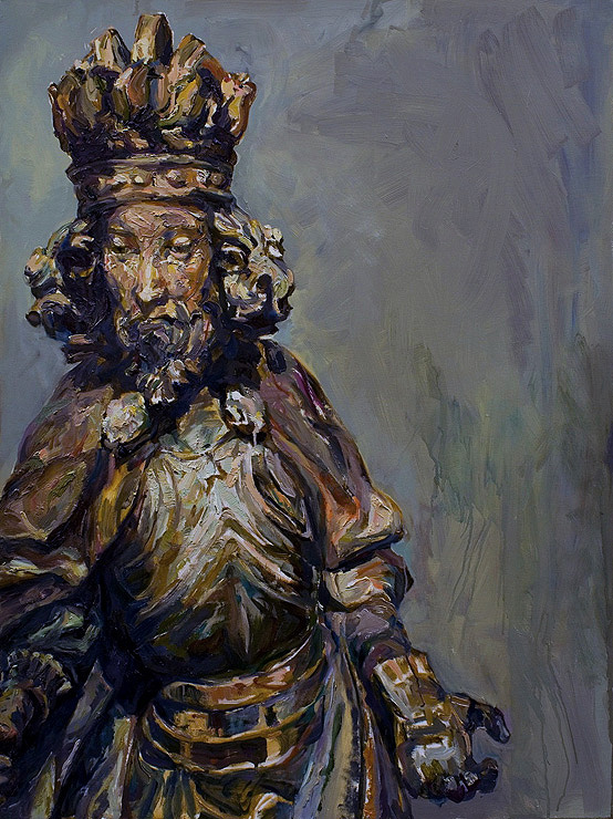 King, 2008, oil on panel