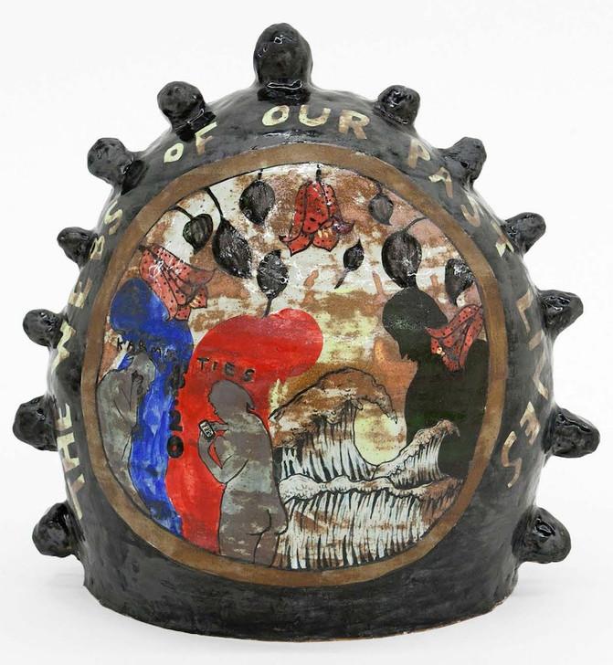 """Maria Paz The Web of Our Past Lives Porcelain, glaze, 2018 15""""H x 13""""W x 11""""D $6800"""