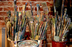 Brushes in the Studio