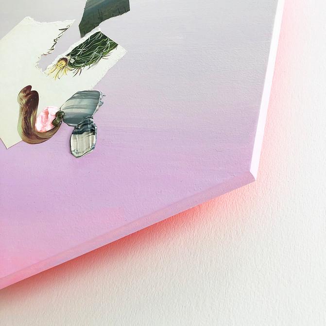 "Danielle Krysa Fragment of a Desert Dream No. 1 14.5"" x 16.5""  mixed media on panel $775.00"
