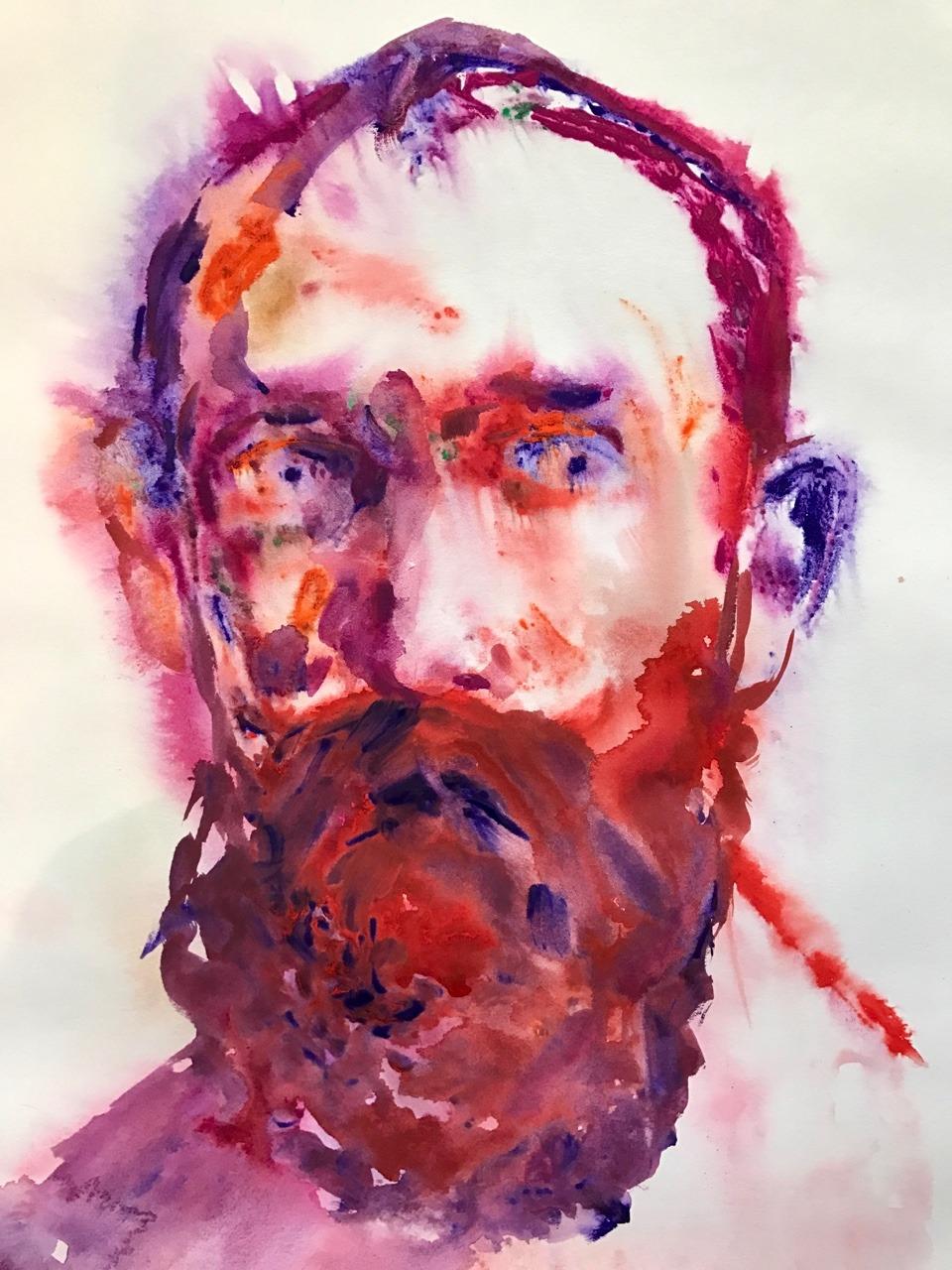 """Red"", 2017, monoprint, 22.5""x15"""