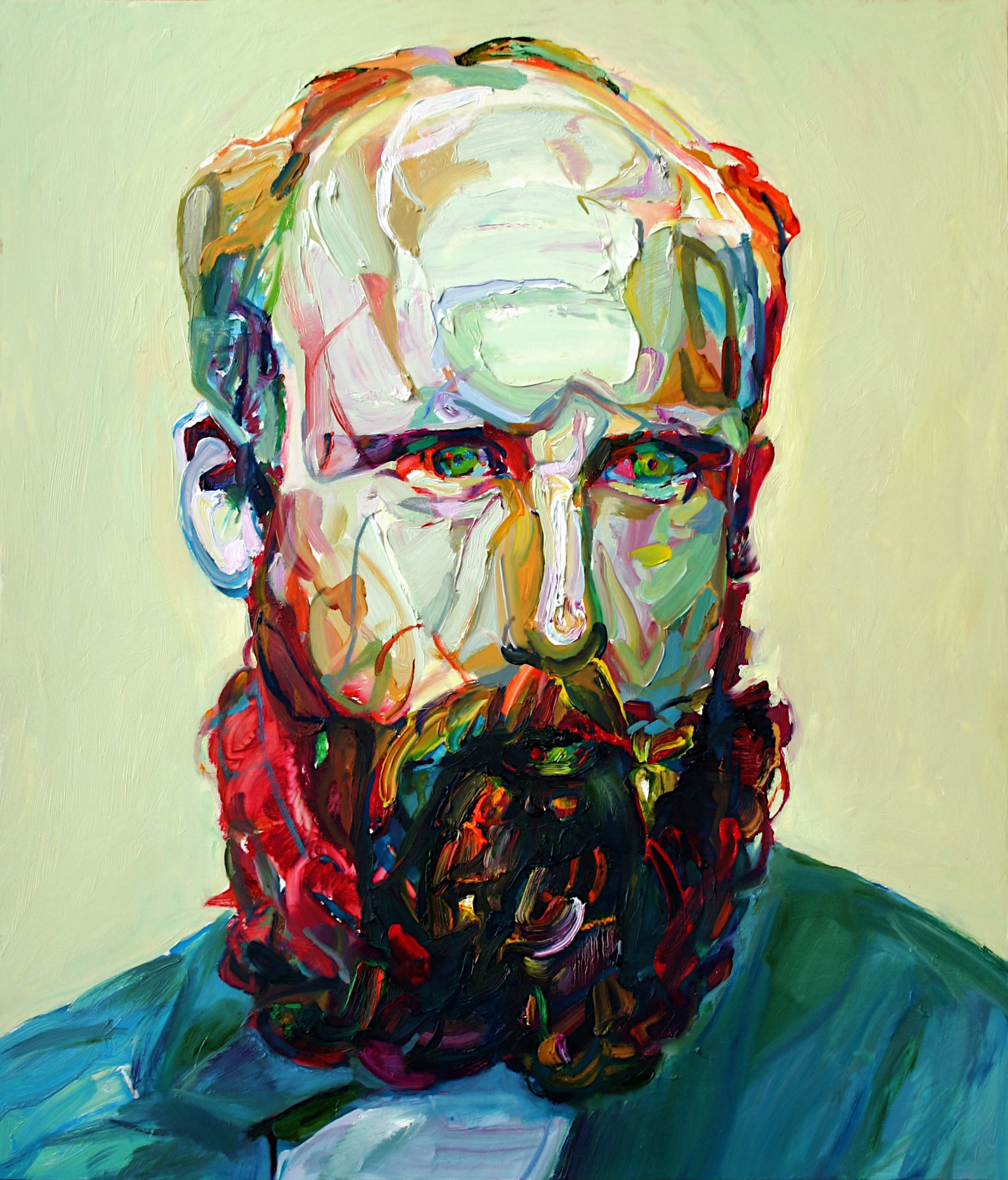 "Buck, 2011, oil on panel, 28""x24"""