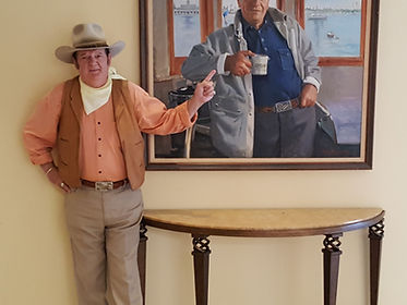 Jeffrey Wayne Sutheland with John Wayne Portrait