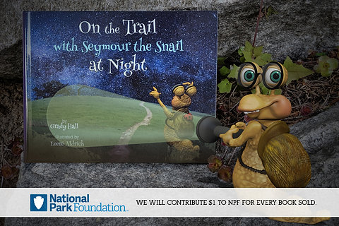 On the Trail with Seymour the Snail at Night