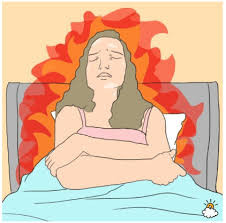 Night sweats and hot flashes affect a restful sleep and brain function
