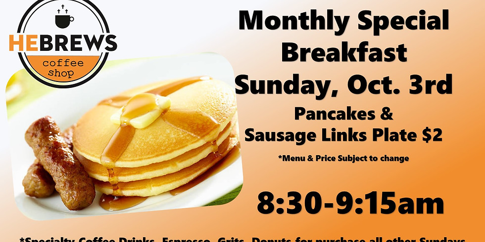 Hebrews Monthly Breakfast Special