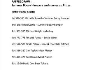 WINNERS of the Summer Boozy Hamper & BBQ Raffle