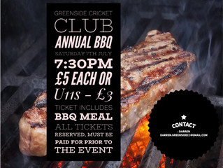 Annual BBQ Tickets - BOOK NOW