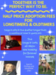 Discounted Adoption Fees for Longtimers