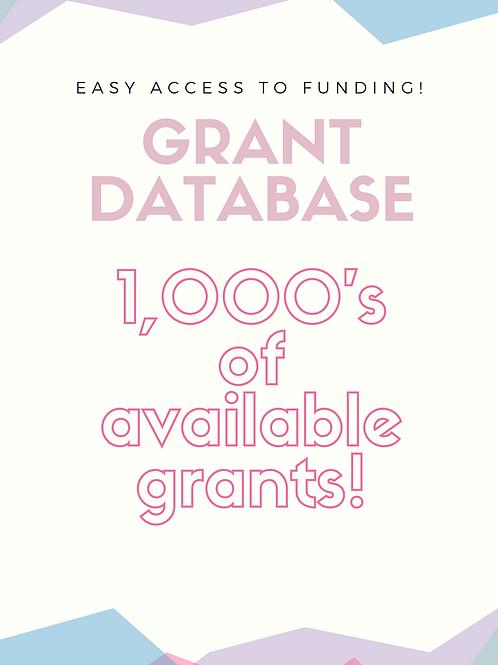 Grants Calendar Database