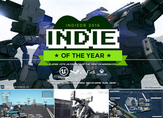Indie of the year update! We're on the top 100 of the nomination and need your vote on IndieDB!