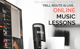 Online music lesson in trill route music