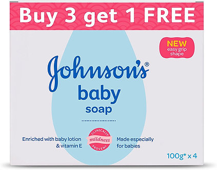 Johnson Baby Soap for Bath Combo offer pack 100g(Buy3 Get 1free)
