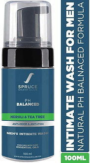 Spruce shave club Intimate wash for men(100ml) with Tea Tree & Neroli for order.