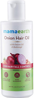 Mamaearth's Onion Oil for Hair Growth &Hairfall Control with Radensyl 150ml