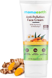 Mamaearth's Anti-Pollution Daily face cream for Dry & Oily Skin with Turmeric