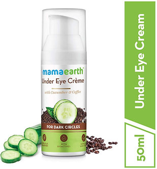 Mamaearth's Natural Under Eye cream for Dark Circles&Wrinkles with coffee& Cucum
