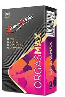 KAMA SUTRA Luxury Series Condoms for Men , Orgasmax (4in1) Condoms , Ribbed, Dot