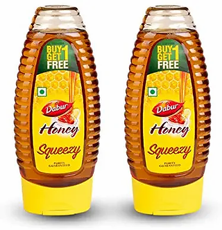 Dabur Honey Squeezy -India's No.1Honey-400g(Buy 1get 1free)