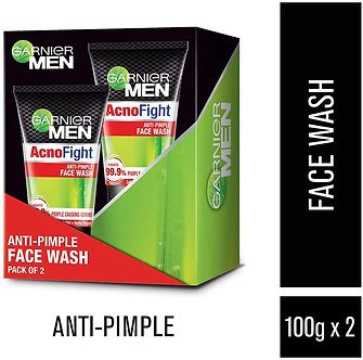 Garnier Men Acno Fight Anti-Pimple Facewash, 100g (Pack of 2)