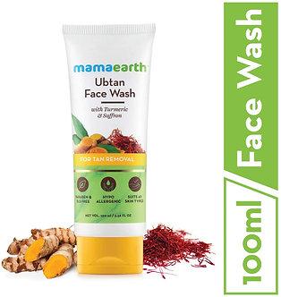 Mamaearth's Ubtan Natural facewash For Dry skin with Turmeric & Saffron