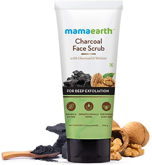 Mamaearth's Charcoal face Scrub for oily skin & Normal Skin,with charcoal&Walnut