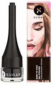 Sugar Cosmetic Born To Wing Gel Eyeliner-01 Black Magic Women