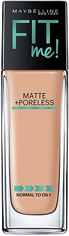 Maybelline New York Fit me Matte+Poreless liquid foundation(with Pump) Natural