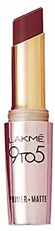 Lakme 9to5 Primer And Matte Lip Colour ,Sangria weekend,3.6g