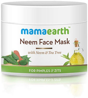 Mamaearth's Neem Face Pack with Neem& Tea Tree for pimples & Zits 100ml