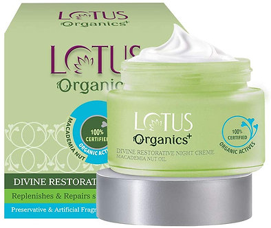 Lotus Organics +Divine Restorative Night creme ,50g