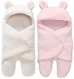 My New born 3in 1Baby Blanket for 0-6months Babies,(pack of 2,white ,pink)