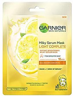 Garnier Skin Naturals, Light Complete, Face Serum Sheet Mask (Yellow), 30g