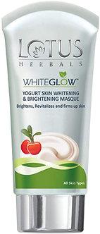 Lotus Herbals White Glow Yogurt skin Whitening and Brightening Masque,80g