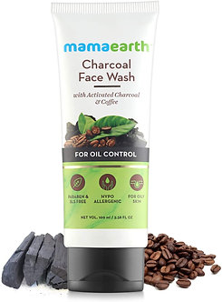 Mamaearth's Charcoal Natural facewash for oil control and pollution defence100ml