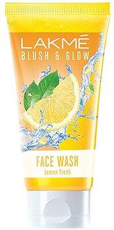 Lakme Blush & Glow facewash ,Lemon fresh 100g