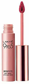 Lakme 9to 5 Weightless Mousse Lip and Cheek color,Plum feather ,9g