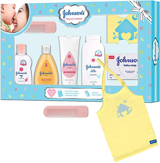 Johnson Baby Care Collection Baby Gift Set with Organic Cotton Baby T-shirt