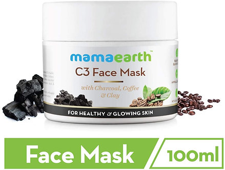 Mamaearth's Charcoal ,Coffee and clay face Mask ,100ml (single pack)