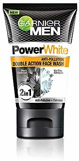 Garnier Men Power White Anti-Pollution Double Action Facewash, 100gm