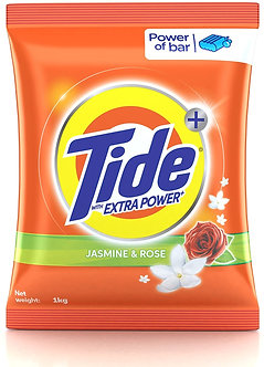 Tide Plus With Extra Powder Jasmine and Rose Detergent Washing Powder-1kg
