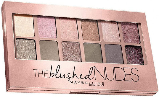 Maybelline New York The Blushed Nudes Palette Eye Shadow ,9g